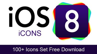 Photo of 100+ iOS 8 Icons Set Free Download