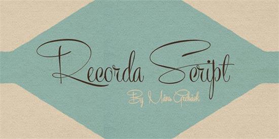 Recorda-Script-21-free-handwritten-fonts