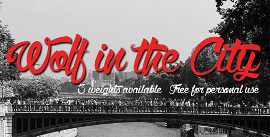 Wolf-in-the-City3-free-handwritten-fonts