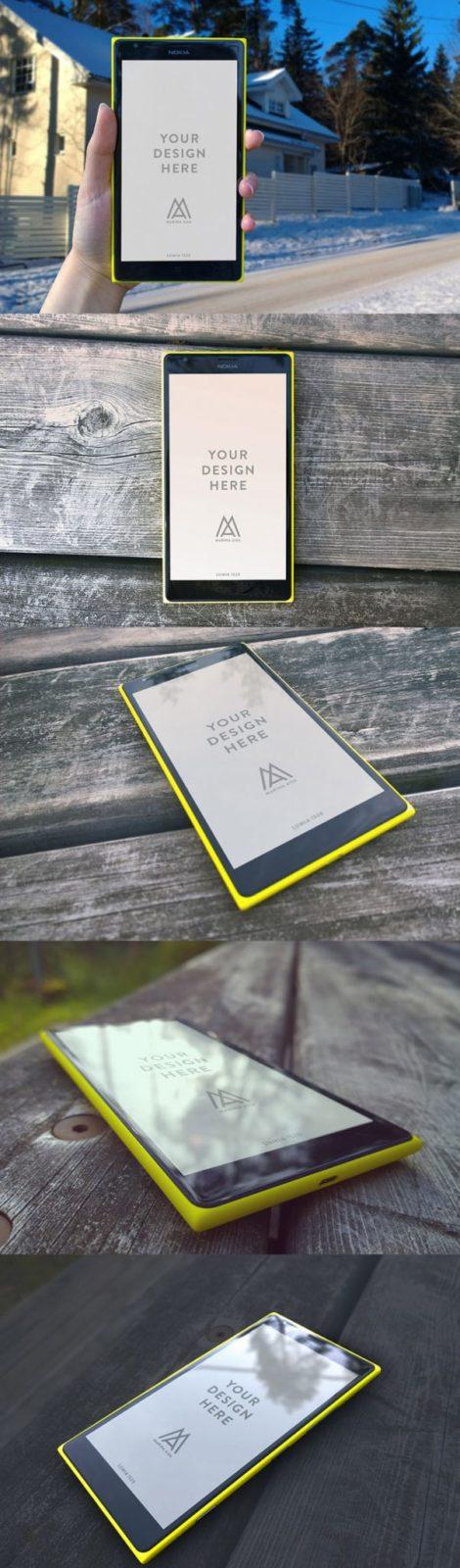 Microsoft / Nokia Lumia 1520 PSD Mockups