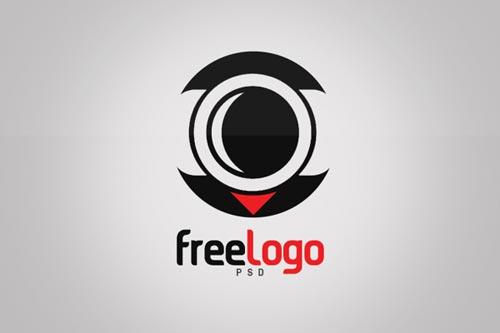 FREE Camera Lens Logo Template