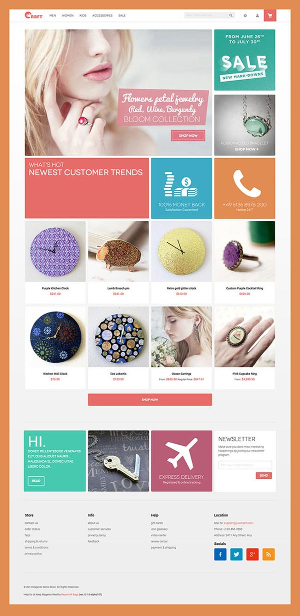 crafts craft free magento theme home page design