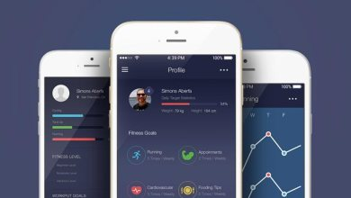 Photo of Free Fitness App UI Kit PSD Template
