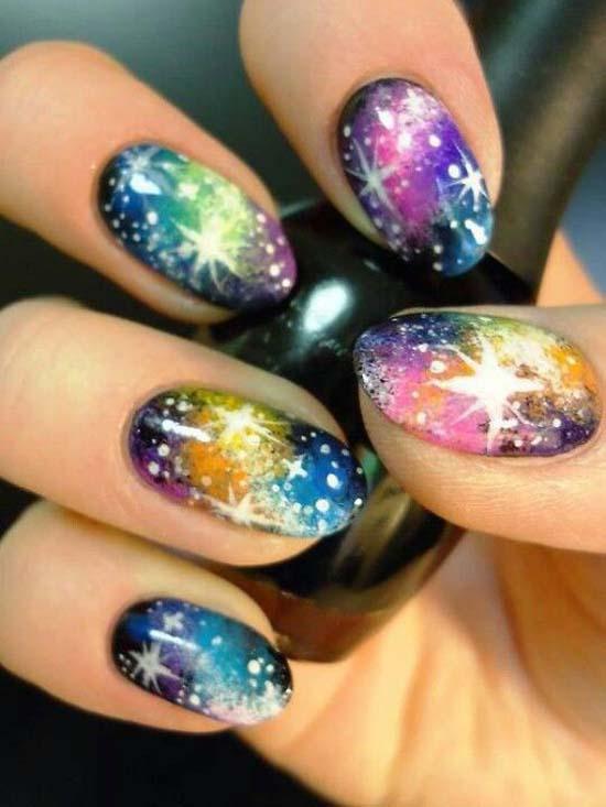 glowing Fingernail Designs