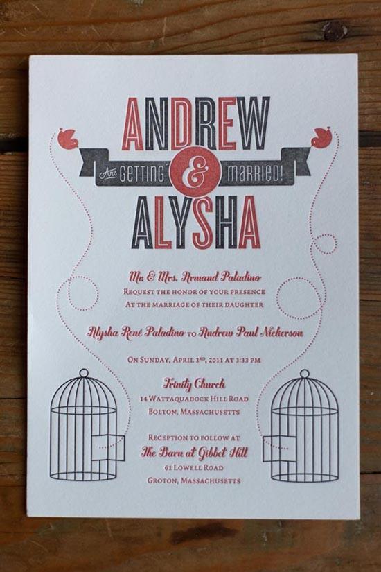 vintage wedding invitations 4