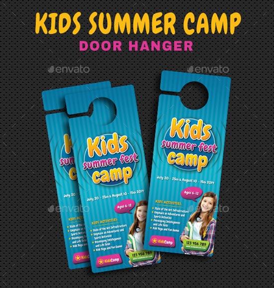 Kids Summer Camp Door Hanger