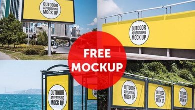 Photo of Free Billboard, Bus Stop Shelters, Banners & Other Outdoor Advertising Mockup