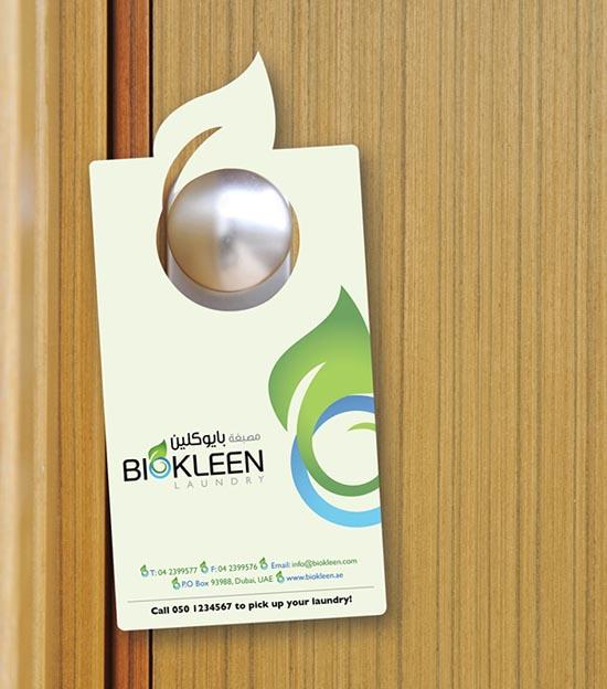 biokleen door hanger advertising
