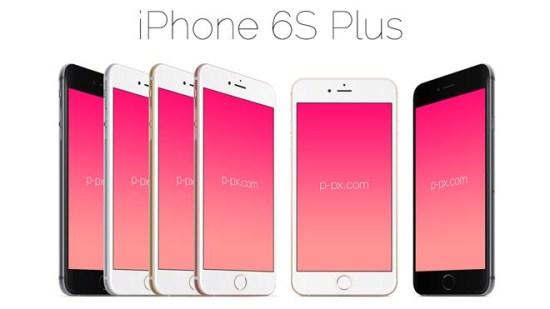 Iphone 6S Plus Vector Mockups