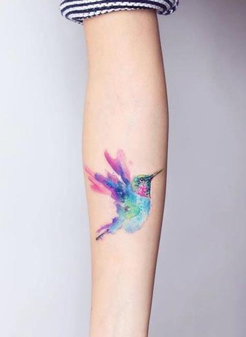 realistic hummingbird tattoos 2