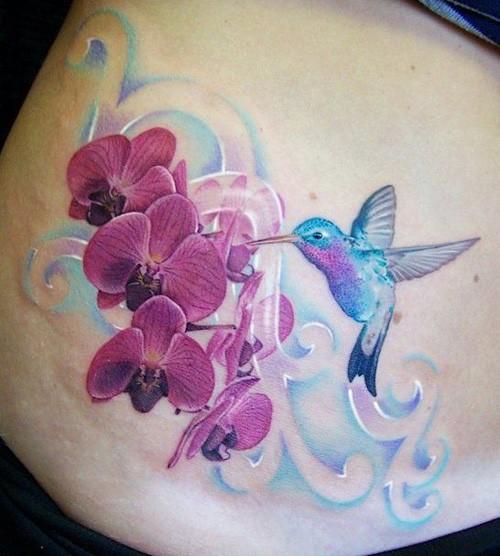 realistic hummingbird tattoos