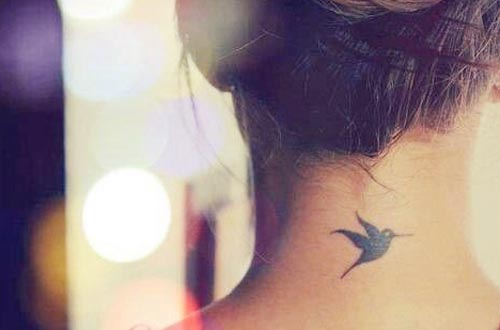 simple small hummingbird tattoo images