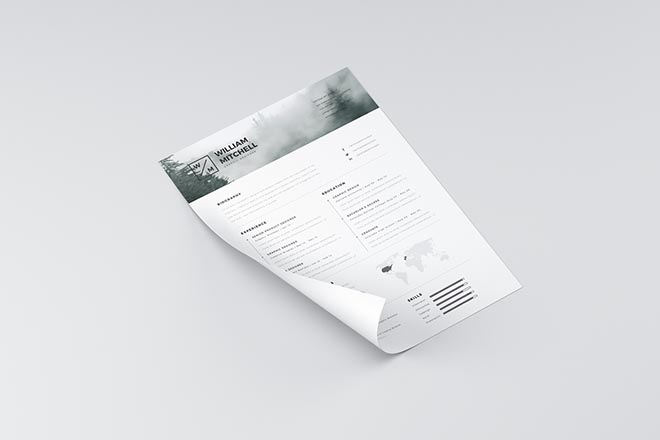 Clean Resume Template for Photoshop and Illustrator 2