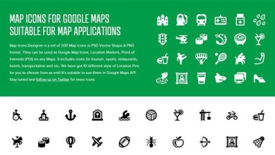 Photo of Free Map Icon Set – Suitable For Google Map Application