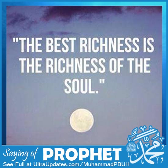 Prophet Muhammad Quotes about being rich