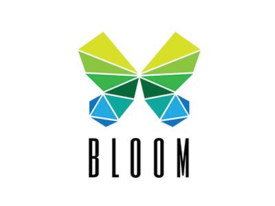 bloom butterfly logos