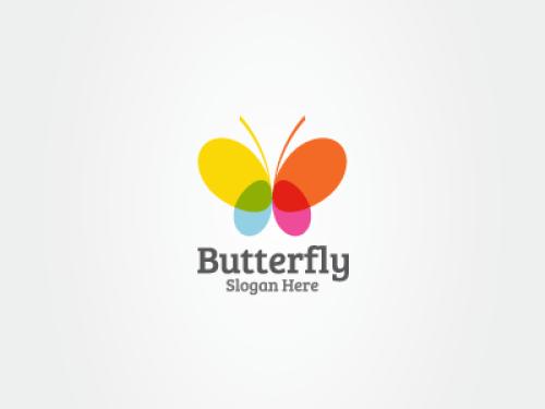 easy butterfly logo design