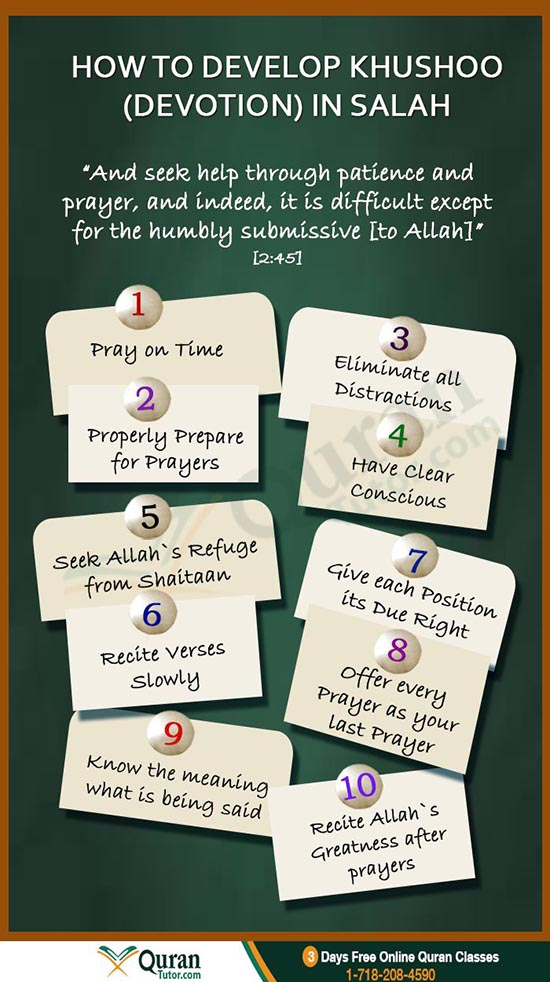 how to develop khushoo devotion in namaz