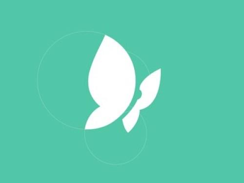 minimal butterfly logos