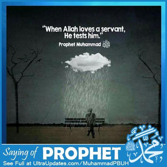 prophet muhammad saw quote about test