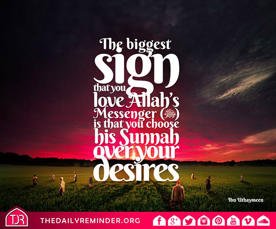 sign of love for muhammad pbuh