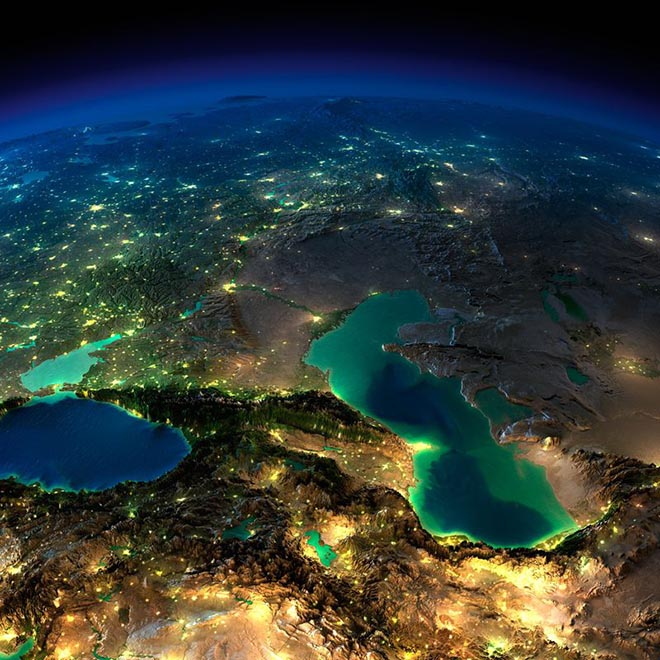 night view of earth from space (2)
