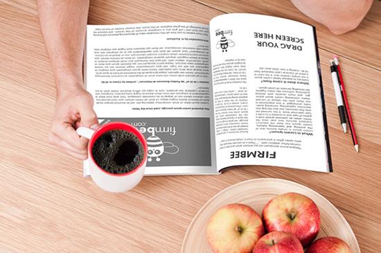 Reading Magazine Mockup