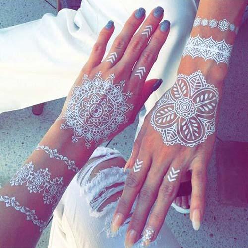 white Mehndi Designs For Hands For Inspiration