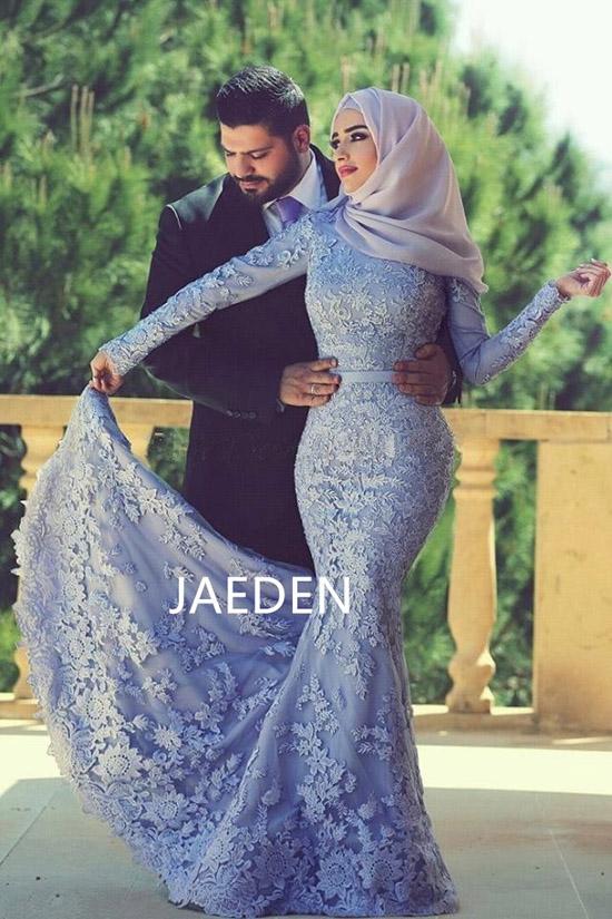 JAEDEN-High-Neck-Muslim-Wedding-Dresses-Applique-Long-Sleeves-Floor-Length-Zipper-Back-Lace-Mermaid-Bridal