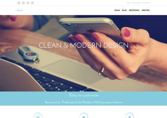 ares-wordpress-minimalistic-themes