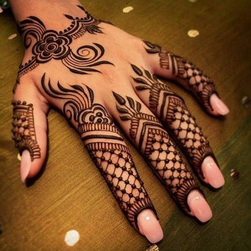 best mehndi designs for fingers
