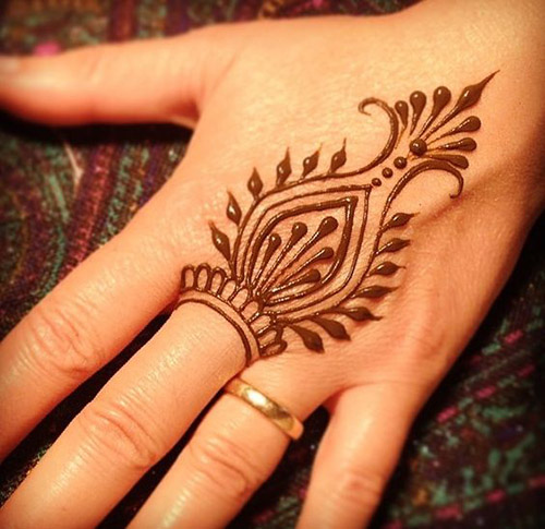 cute imple henna designs for fingers