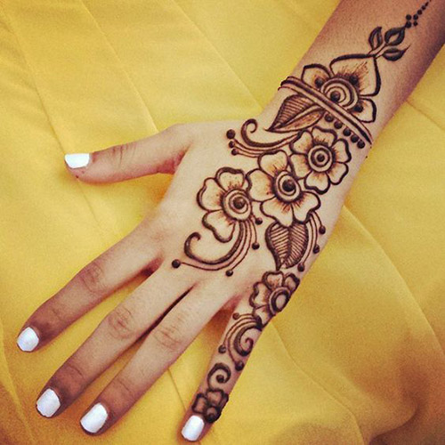 easy and simple henna designs for hands