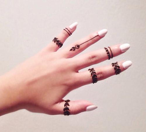 easy henna designs for fingers