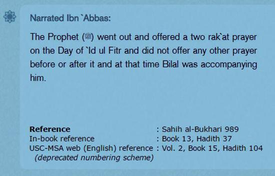 eid hadith