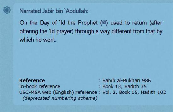 eid hadiths