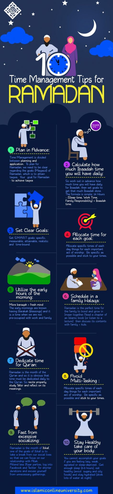how to manage you ramadan timing infographic