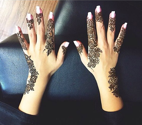 simple arabic henna design for hands