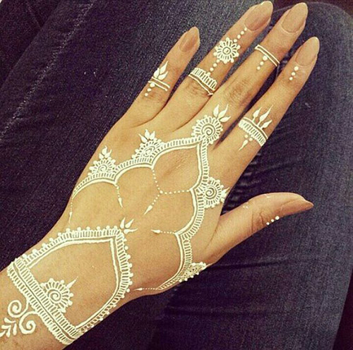 white simple henna designs for hands