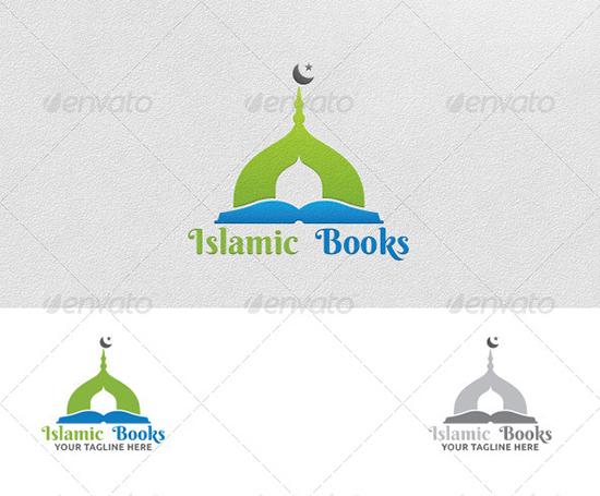 Islamic Books - Logo Template