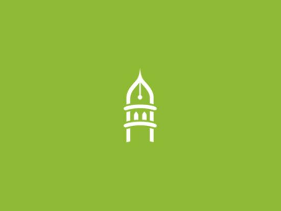 Minaret pen - minimal islamic logo