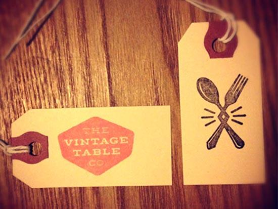 Stamped-vintage hang tag