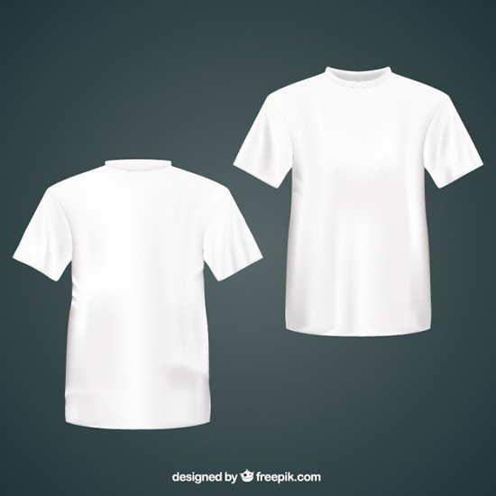 White t shirts Free Vector
