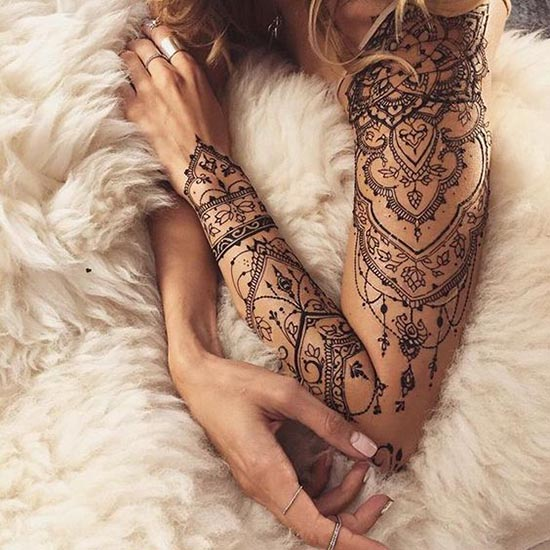 henna tattoos ideas full sleeves