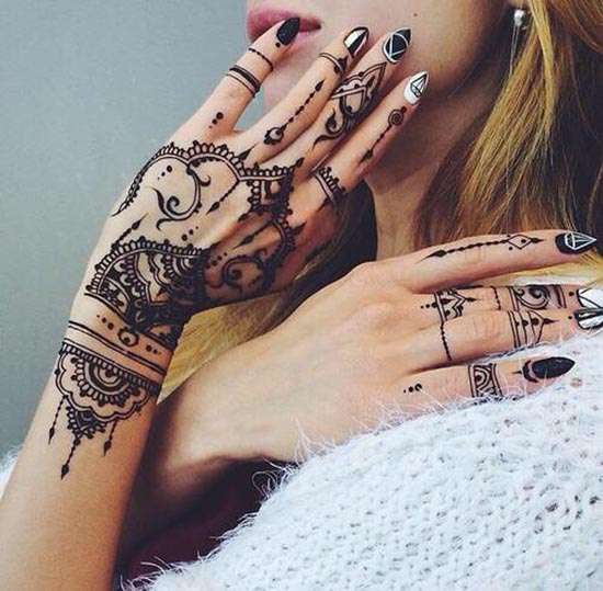 simple henna tattoos designs for hand