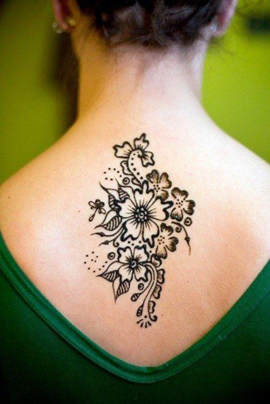 temporary henna tattoos designs for back