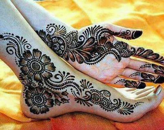 temporary henna tattoos designs for feet