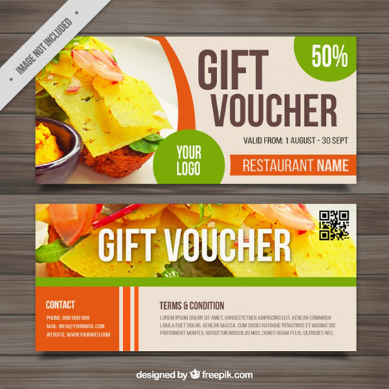 voucher-for-food-outlets-free-vector