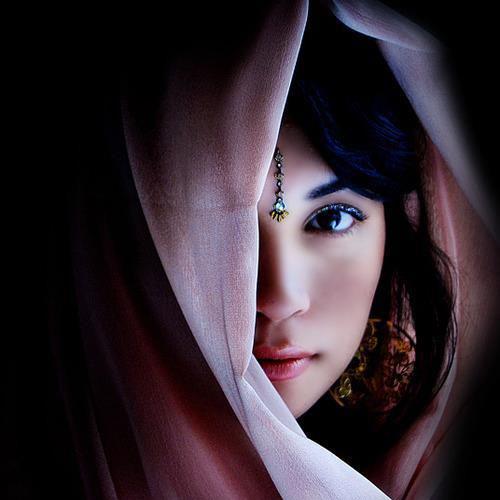 Profile Hijab Hiding Face Cute Girl