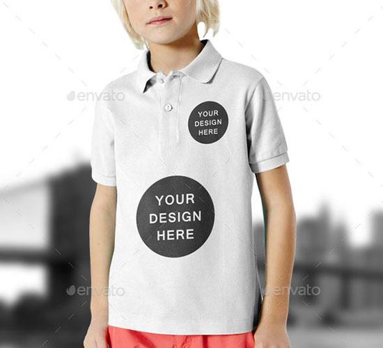 Kids Polo Shirt Mockups